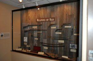 Weapons of War Exhibit at St. Joseph Museum. Photo by Blair Carmichael.