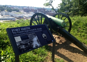 One of three cannon at Fort Smith Park. Photo courtesy of St. Joseph CVB