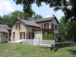 Goodnow House State Historic Site. Photo by Riley County Historical Society