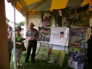 Visitors to Kansas Sampler learn about Freedom's Frontier National Heritage Area.