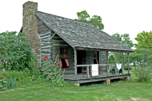 Dietrich Cabin. Photo courtesy of Franklin County Historical Society.