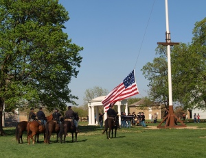 Flag Raising at Fort Scott
