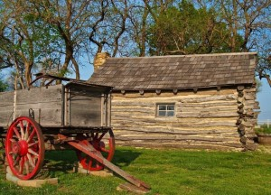 cabin and wagon