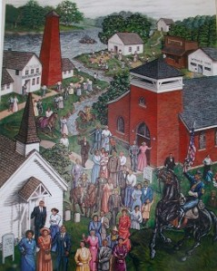 The Garrison School Cultural Center uses the African American history of Clay County, Missouri to inspire murals.