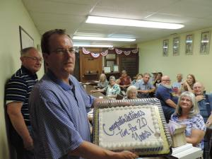 The historical society at Lecompton supports and celebrates their friends!