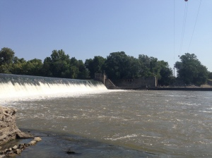 The Big Blue River in Manhattan, Kansas.