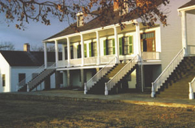Officers_Quarters_at_Sunset_