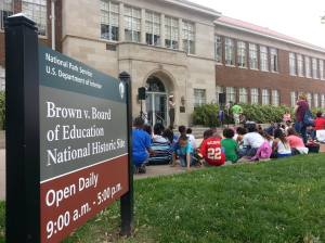 Brown v. Board of Education National Historic Site's #RangersPointingAtThings