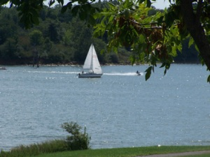 Sailing at Smithville Lake. Photo by Clay County Parks