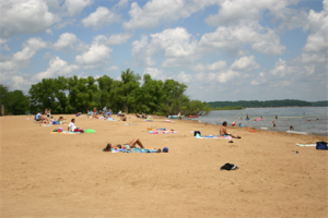 Stick your toes in the sand at one of our lakeside beaches.